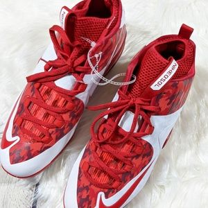 Nike Baseball MVP Elite Cleats Red White Camo New